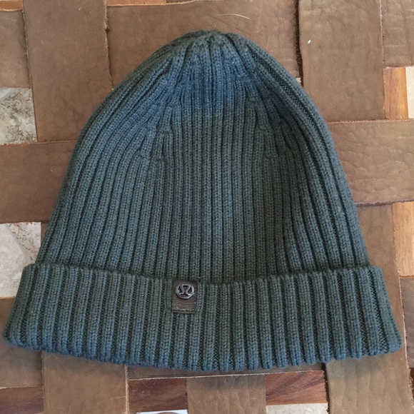 04a2a196906 lululemon athletica Accessories - Lululemon Olive merino wool be cozy Toque  beenie